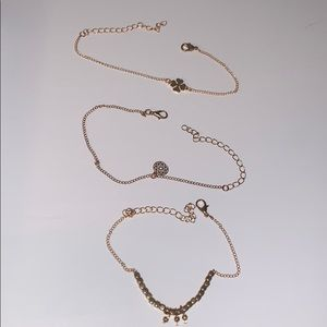 gold anklets or could be used as bracelets